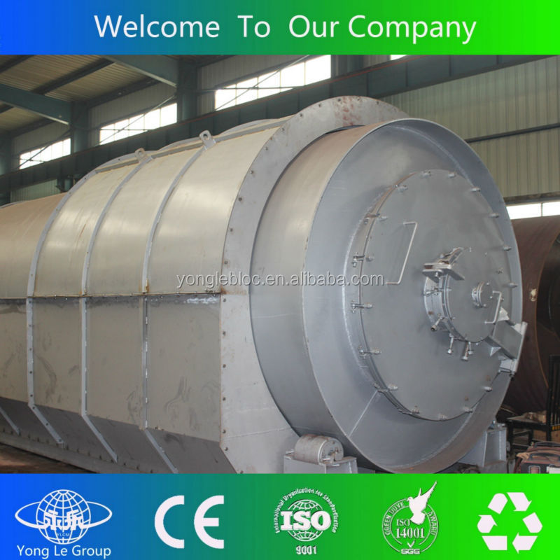 Yongle Brand crude oil extracting from waste tyres plants