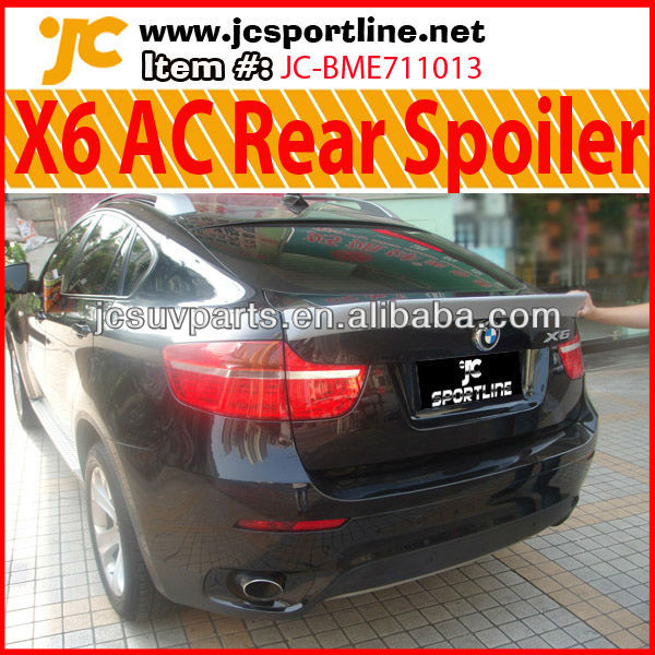 For BMW X6 E71 Fiberglass Trunk Spoiler AC Style Rear Spoiler