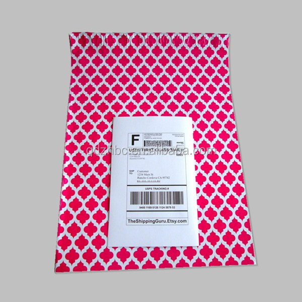 Custom pink opaque poly mail delivery bag mailer express envelopes