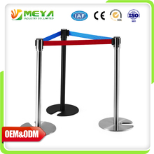 Stackable Retractable Floor Stanchions Concert Queue Post Stainless Steel Stand Used Crowd Control Barriers