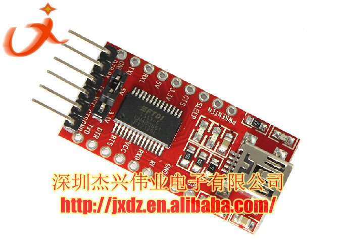 FTDI downloader FT232RL USB to TTL module 3.3V 5V Mini usb 5pin connector for arduino