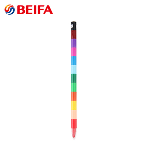 Beifa Brand CY0008 Multi Color Plastic Stackable Wax Crayons For Children