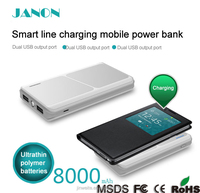 2016 New arrival 8000mah wireless charging power bank wireless charger,wireless power bank