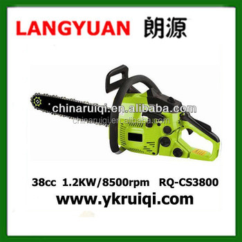 Two stroke 38cc mini chain saw with 16 inch bar
