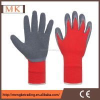 Industrial gloves flock/cotton lined/unlined latex rubber hand gloves