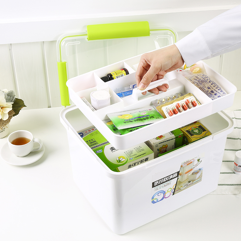 2017 New Products Plastic Storage Box Emergency First Aid Kit