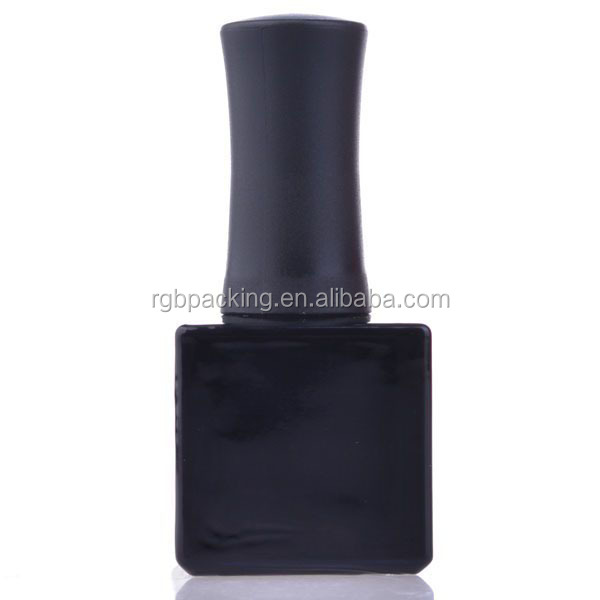 Square Empty Clear Bottle Glass Empty Large Bottle Black Nail Polish ...