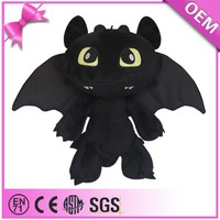 Factory price how to train your dragon 2 toothless dragon soft toy