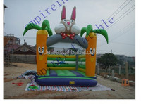 Cheap colorful carrot and rabbit bounce castle made in China for kids for sale BH016