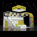 Double deck booth two story exhibition booth supplier aluminum system exhibition booth