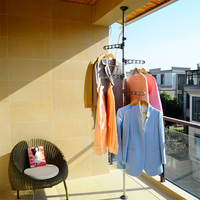 BYN telescopic rotating stainless steel clothes drying rack