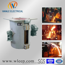 1 ton induction cast iron copper brass melting furnace