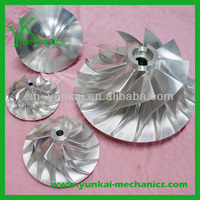 Turbine blow impeller, stainless steel precision blower impeller