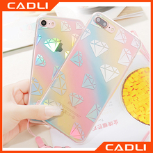 New Hot 3D Bling Laser Melting Rainbow Color IMD Phone Case For iPhone 7 7Plus