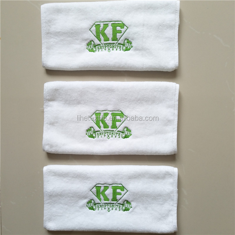 Custom Gym Towel 100% Cotton Terry With Private Logo Solid Color