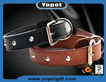 Beat Selling Adjustable Genuine Leather Dog Collar Handmade Leather Pet Collar