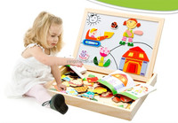 Hot sale high quality educational wooden magnet board puzzle game toys for children