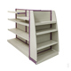 Fashion Wooden Layer and Metal Upright shoe display rack