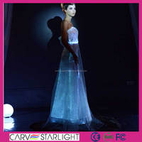 New luminous sex party light up long lace evening dresses