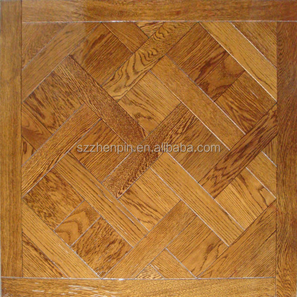Solid Wood Parquet Flooring Oak wood versailles art parquet flooring panel