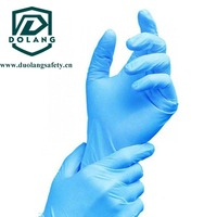 China manufacturer Textured fingers disposable nitrile gloves hot sale