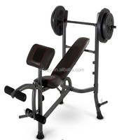 Home Gym Weight Bench Press Fitness Equipment Padded Sit-Up Bench Adjustable Decline Incline