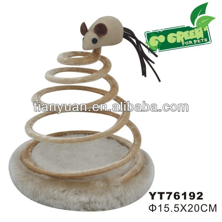 Cheap sping cat toys with mouse direct supplier
