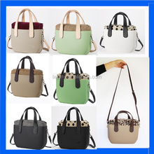 2016 Fashion Black and White Stitching Lady Handbag