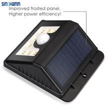 SINOHAMM 8LED Solar Power Wireless Security Motion Sensor Light Outside wall Lamp manufacture in shenzhen