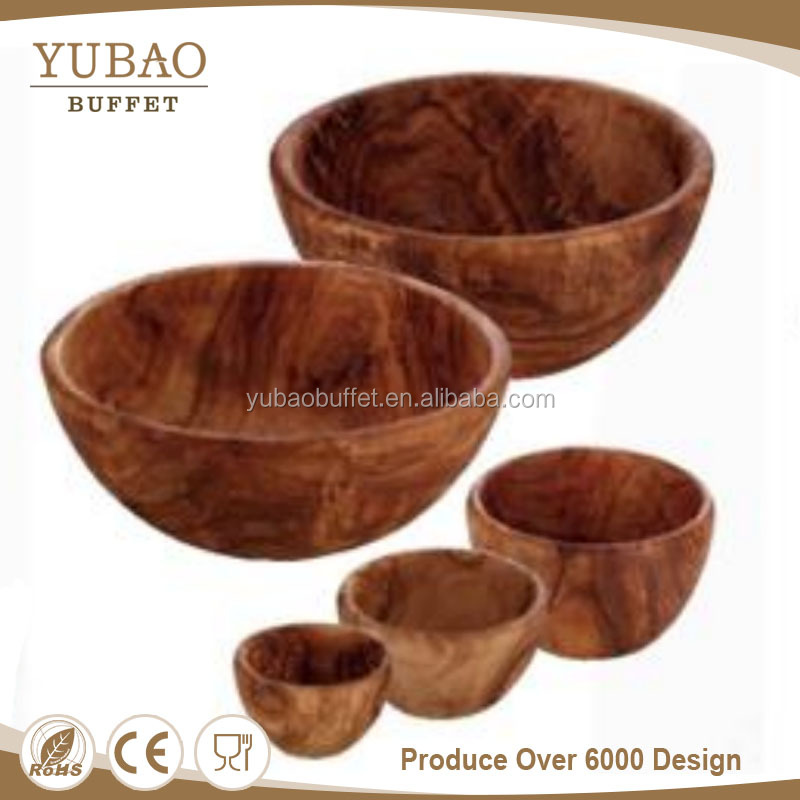 Wood products restaurant Tableware nice cheap large african unique rustic salad wooden bowl