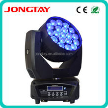 Jongtay Hot 19 pcs RGBW 4 IN 1 12W led wash zoom led zoom moving head 19 x 10w quad leds