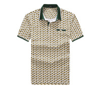 Men's jersey printed polo t shirt (100%cotton )short t-shirt printing