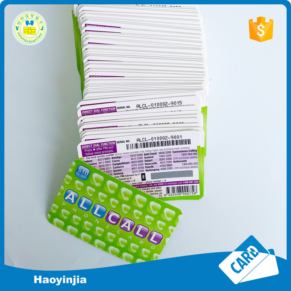 Professional printing scratch card with PIN number