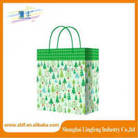 2015 most popular Custom Disposable Offset Print Paper Shopping Bag