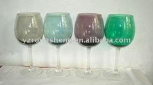 colored wine champagne glass