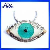 925 Sterling Silver Turkey Blue Eye Jewelry Pendant