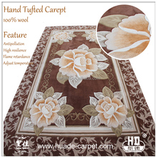 Flower Design Wool Carpets Hand Tufted Modern Design Carpet