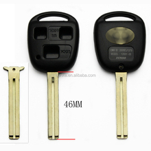 3Buttons Key For Toyota Corolla Camry Prado RAV4 Remote Key Case Blank Key Shell Toy48 Blade With Logo
