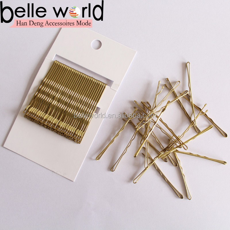 Fashion Wholesale Fancy Ball Tipped Wave Kirby Hair Grips for Girls