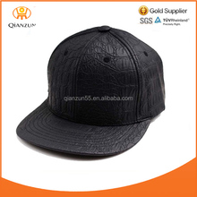 Wholesale Men's Crocodile Faux Leather SNAPBACK Strapback Hat Cap flat brim hat cap