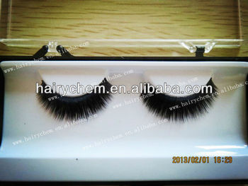 Hot Style! hand made 100% real Siberian mink FULL strip lash
