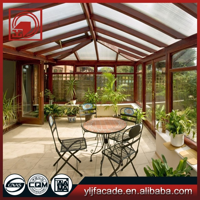 Modern design luxury decorating aluminum sunrooms with sunblock glass