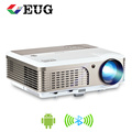 EUG 2600Lumens X760+AB android wifi bluetooth HDMI 50000hours lamp life 1080P 3D LCD Projector