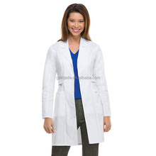 Surgical Protective Doctor Gown cotton/polyester white lab coat medical Lab coat