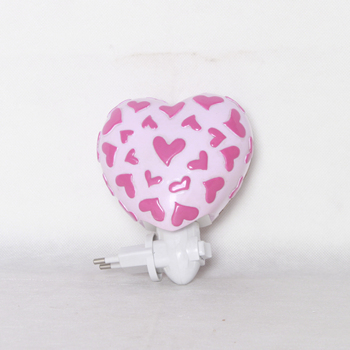 UL standard heart shape resin night light for living room ornament