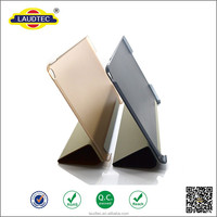 New arrival! Ultra Thin Flip Smart Case , PC back cover for iPad Air 2, folding stand leather case for ipad 6