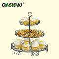 3-tier metal wire powder coated cake stand/cupcake stand