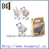 chrome mini shopping cart toy / mini supermarket shopping carts / mini trolley cart shopping cart HSX-S454