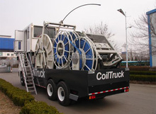 Coiled tubing unit Truck, well logging