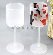New coning Sublimation glass goblet for gift&advertising